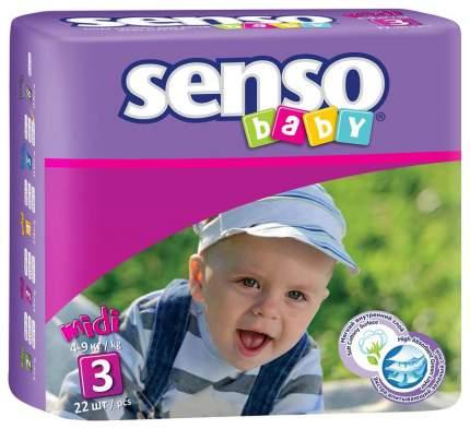 Подгузники Senso Baby Midi 3 (4-9 кг), 22 шт.