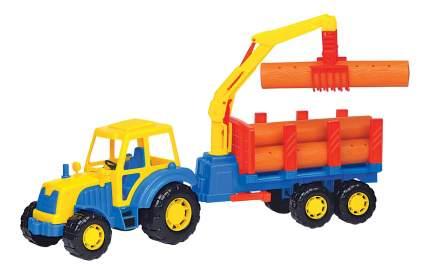 Трактор с полуприцепом-лесовозом Полесье Алтай