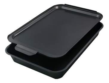 Форма для выпечки прямоугольная с крышкой SL-E008, 35х24,5х6