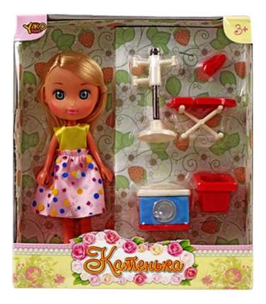 Игровой набор Yako Toys Катенька с набором мебели стирка