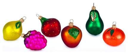 Набор елочных игрушек Елочка Фрукты разноцветный C852