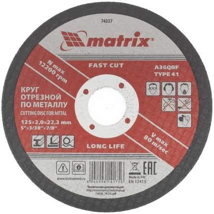 Диск отрезной абразивный MATRIX 125 х 2,0 х 22 мм 74337