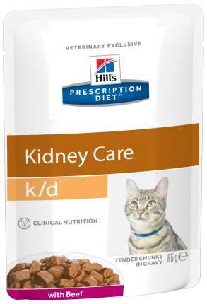 Влажный корм для кошек Hill's Prescription Diet k/d Kidney Care, говядина, 12шт, 85г