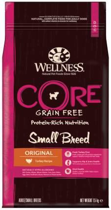 Сухой корм для собак Wellness CORE Small Breed Original, для мелких пород, индейка, 1,5кг