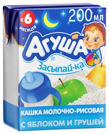 Молочная каша Агуша Засыпай-ка Рисовая с грушей и яблоком с 6 мес 200 мл