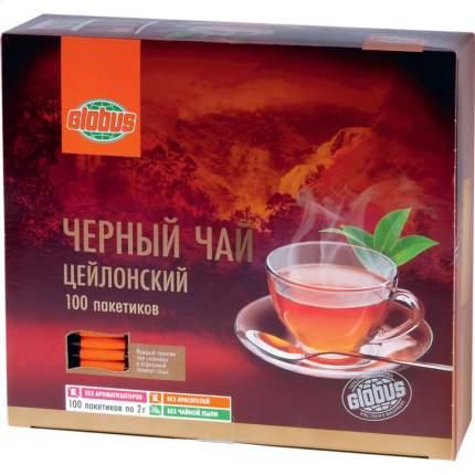 Чай черный Глобус цейлонский 100 пакетиков
