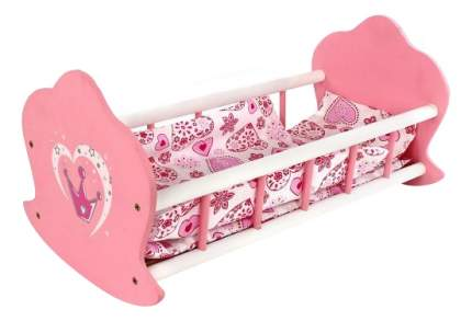 Кроватка люлька деревянная Корона 51х30х25 см 67115 для кукол Mary Poppins