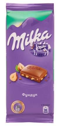 Шоколад молочный Milka фундук 90 г