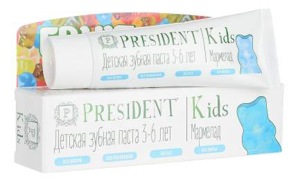 Детская зубная паста PresiDENT Kids c 3 до 6 лет со вкусом мармелада - 50 мл