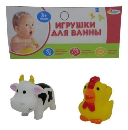 Игрушки для ванной Корова и петух Играем вместе LXB105_107