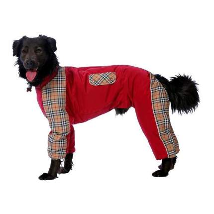 Комбинезон для собак ТУЗИК размер XL мужской, красный, коричневый, длина спины 41 см