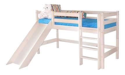 Кровать МебельГрад Низкая Соня с прямой лестницей и горкой (вариант 13)