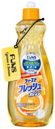Жидкость для мытья посуды овощей и фруктов Funs свежий апельсин 600 мл