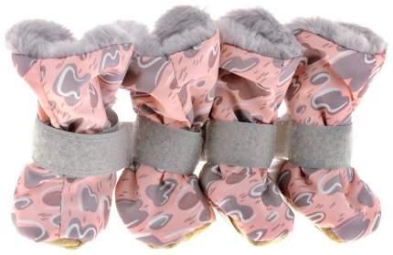 Обувь для собак OSSO Fashion размер M, 4 шт серый, синий
