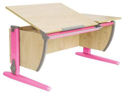 Парта Дэми СУТ 17-02Д2 с двумя задними двухъярусными и боковой приставками Розовый 120 см