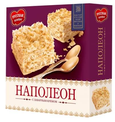 Торт Русская нива наполеон с заварным кремом 450 г