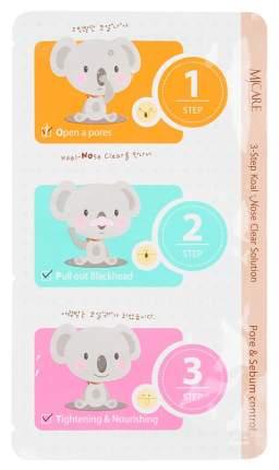 Патчи для очищения кожи Mijin 3-Step Koala Nose Clear Solution 7г