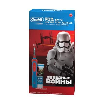 Электрическая зубная щетка Braun D14,513K Star Wars Kids + З/п Star Wars 75 мл