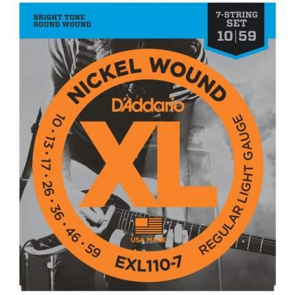 Струны для электрогитары D ADDARIO EXL110 7