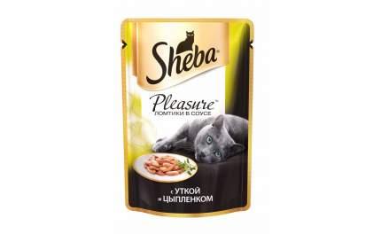 Влажный корм для кошек Sheba, ломтики в соусе, утка, 85 г