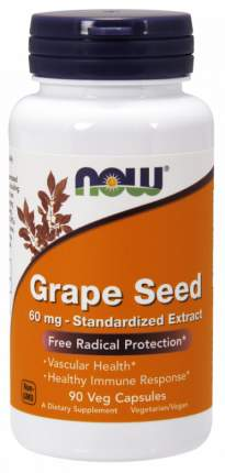 Now Grape Seed 60 мг капсулы 90 шт.