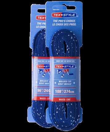 Шнурки для коньков Tex Style W925 синие, 2,44 м