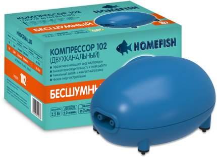 Компрессор для аквариума Home-Fish 102 двуканальный, 2 л/мин
