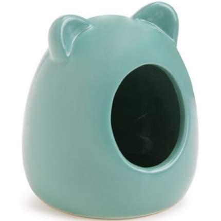 Домик для мелких грызунов Beeztees, керамический, зеленый 9x9x11 см
