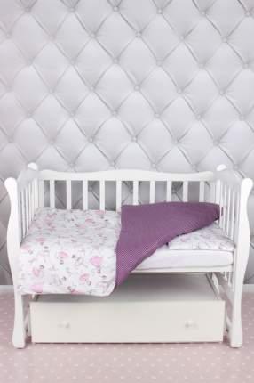 Комплект в кроватку 3 предмета AmaroBaby BABY BOOM (Амели/белый, поплин)