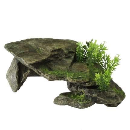 Грот для аквариума AQUA DELLA Каменный грот с растениями, 10,5х16,5х28,5 см