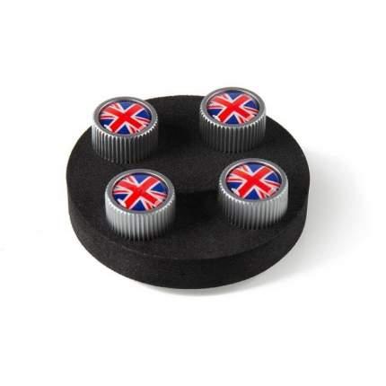 Набор колпачков на ниппель MINI Union Jack UK/Britis Flag Wheel Valve Caps Red/Blue