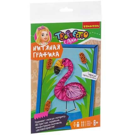 "Набор для творчества ""Нитяная графика. Фламинго"""