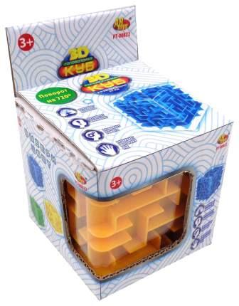 Куб головоломка 3D Abtoys 3 цвета зеленый желтый синий
