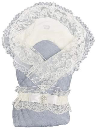 Конверт-одеяло вязанный на выписку + уголок с кружевом+ пояс на резинке,300гр