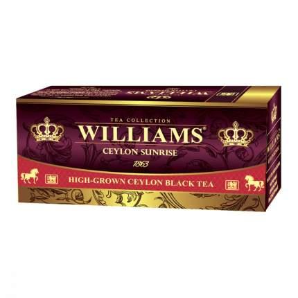Чай Williams Ceylon Sunrise черный 25 пакетиков