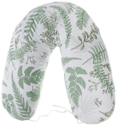Подушка для беременных Amarobaby Exclusive Soft Collection Папоротники, 170х25 см