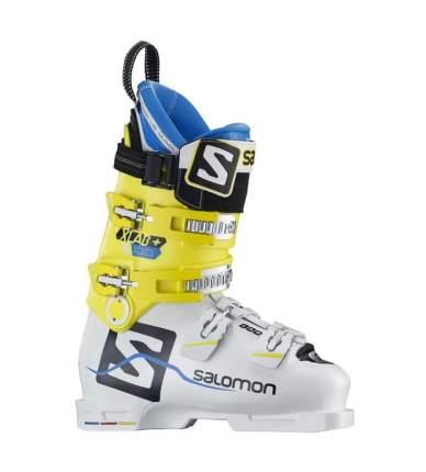 Горнолыжные ботинки Salomon X Lab+ 130 2018, white/yellow, 25.5
