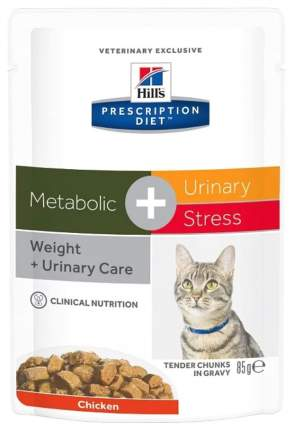 Влажный корм для кошек Hill's Prescription Diet Metabolic+Urinary Stress, 12шт по 85г