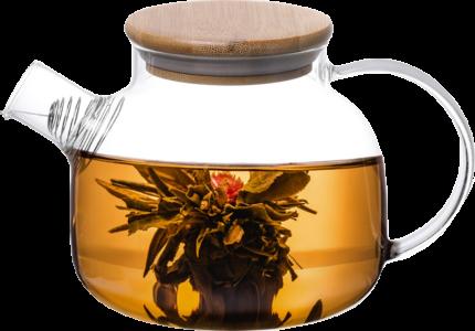 Fissman Заварочный чайник с бамбуковой крышкой и стальным фильтром 800 мл
