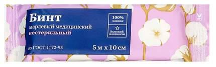 Бинт марлевый PL нестерильный 5 м х 10 см ГОСТ 1 шт.