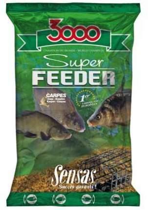 Прикормка Sensas 3000 Super Feeder для ловли карпа и крупной рыбы, 1 кг