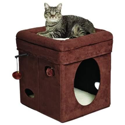 Домик для кошек MidWest Currious Cat Cube, складной, коричневый, 38,4x38,4x42 см