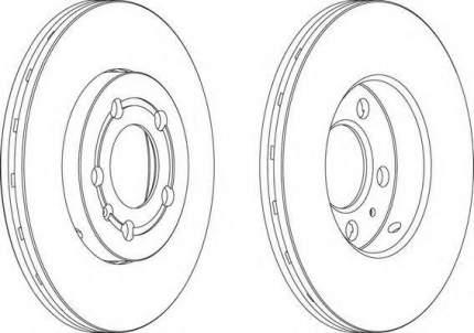 Тормозной диск FERODO DDF927 передний 2 шт