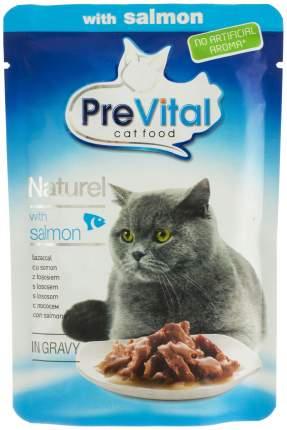 Влажный корм для кошек PreVital Naturel, лосось, 85г