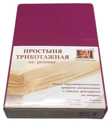 Простыня АльВиТек ПТР-ФУК-160 цвет Малиновый