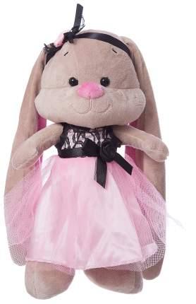 Мягкая игрушка Jack&Lin Зайка Лин в розово-черном платьице, 25 см JL-006ST-25-КСО
