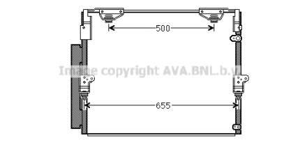 Радиатор кондиционера Ava TO5560D