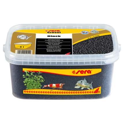 Грунт для аквариума Gravel Black (Черный) d 2-3 мм 3 л