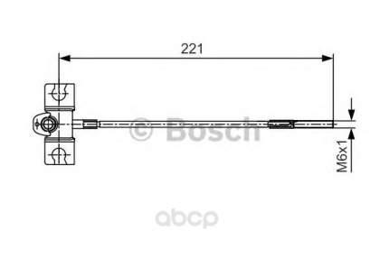 Трос cтояночного тормоза BOSCH 1987477913 передний