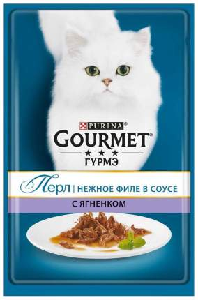 Влажный корм для кошек Gourmet Perle, ягненок, 24шт, 85г